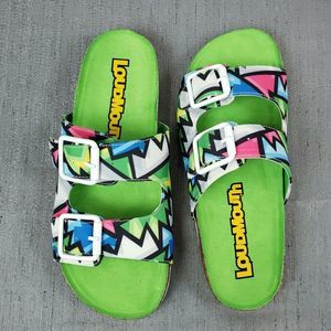 Loudmouth Crystal Frankie Slip- On Sandals New
